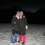 Irmi and Susi on the  top of Gondogoro Pass