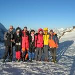 Trekkers enjoying the  sun rise on the top of Gondogoro Pass